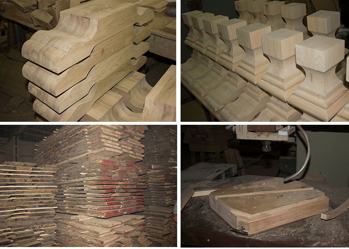 Production of tables solid wood