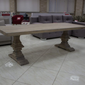 Table made of natural oak wood