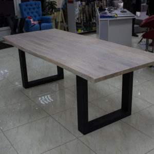 Large dining table with live edges