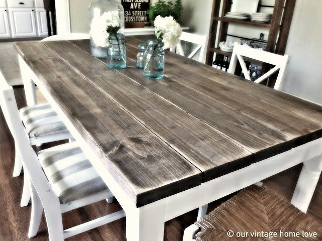 classic dining rustic table