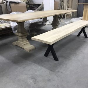 Production wooden benches