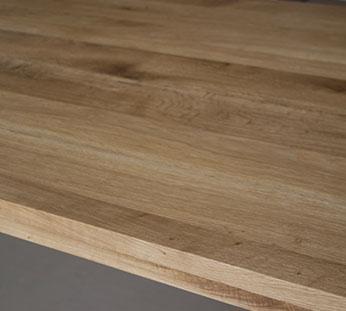 side of oak table