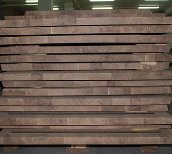 Warehouse of wooden countertops