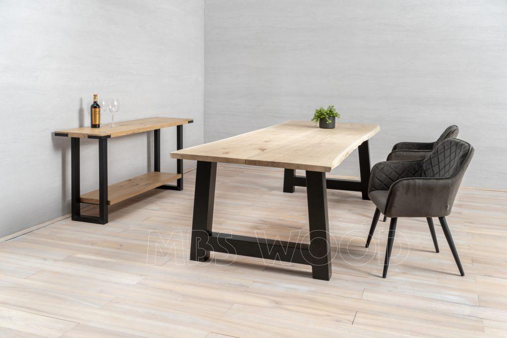 foto salle à manger table chêne salon