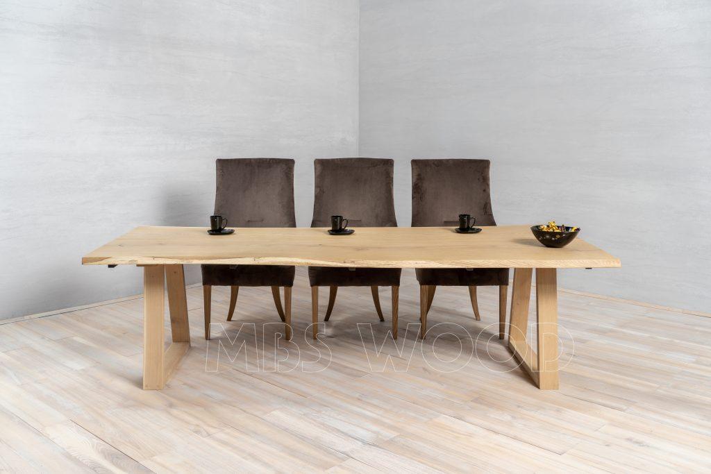 rectangle de table à manger en chêne