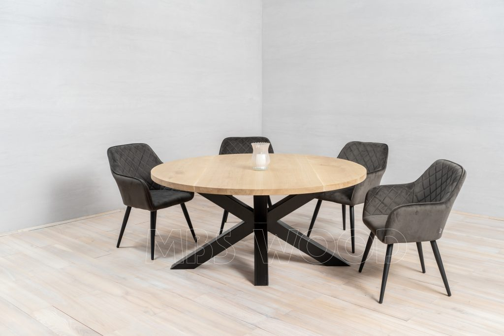 foto salle à manger table chêne parc
