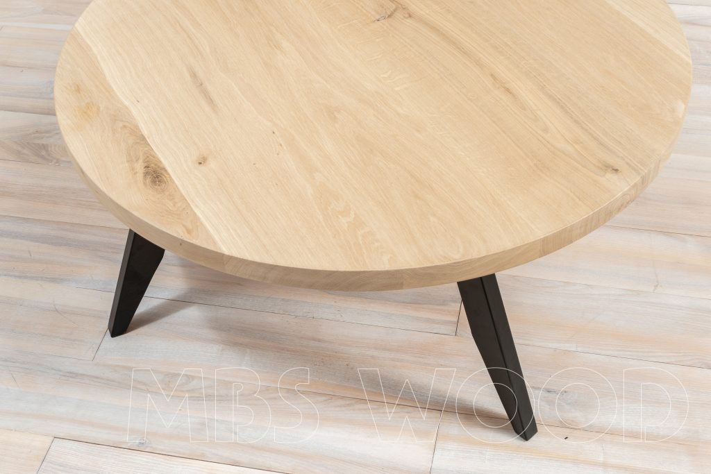 table ronde en chêne café