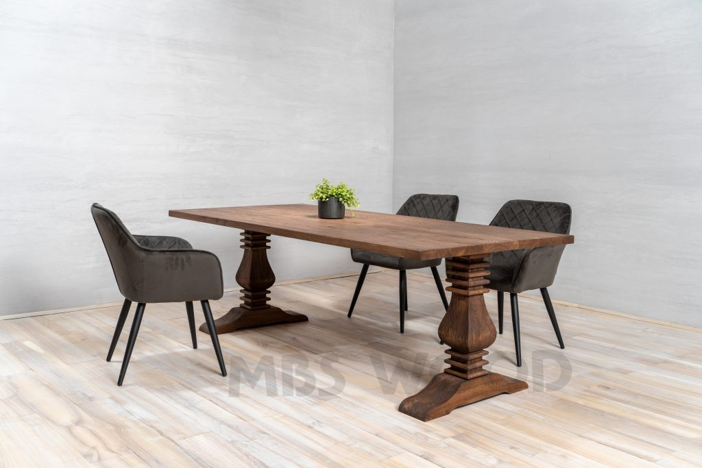 Manufacturing wooden table MBS Wood covered brown