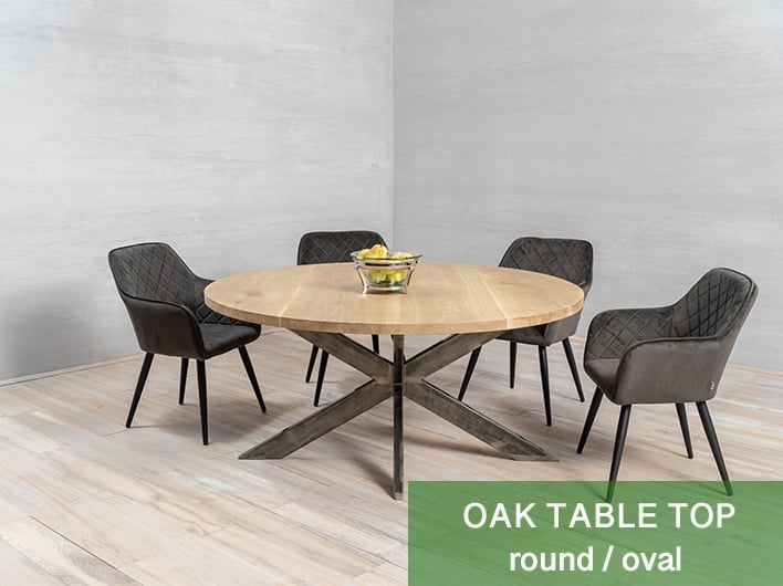round / oaval tabletop