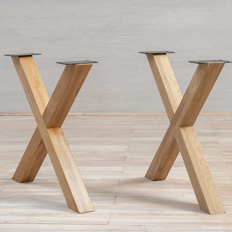 Wooden Table Legs Oak X Shape