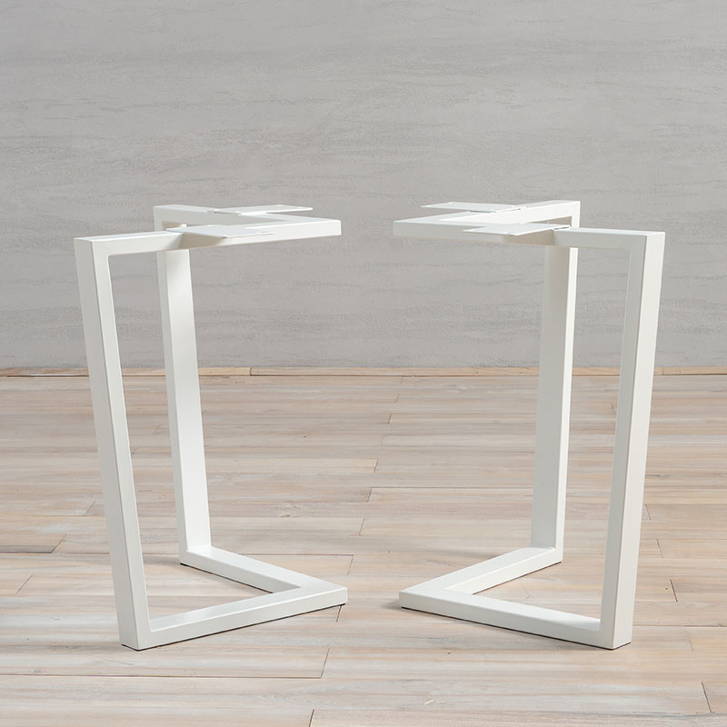 White Metal Table Legs Book-Shape
